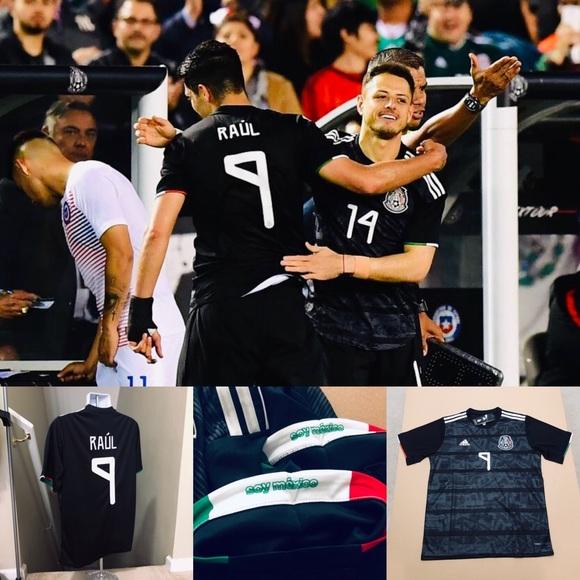 b25c608e8d0 2019 Adidas Mexico Raul Jimenez  9 Soccer Jersey